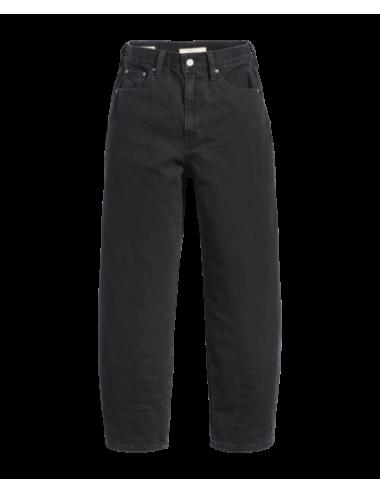 85314 0000 JEANS donna LEVIS Balloon LEG black denim pantalone pantaloni woman