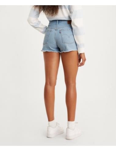 56327 0086 SHORT vita alta donna LEVIS pantaloncini corti bermuda 501 Original