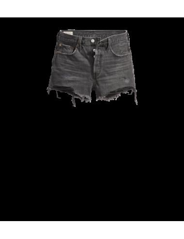 56327 0070 SHORT vita alta donna LEVIS pantaloncini corti bermuda 501 Original