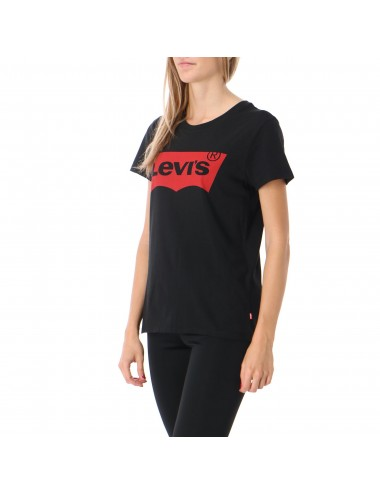 17369 0201 T SHIRT basic LEVIS donna The Perfect Graphic Tee maglietta maglia