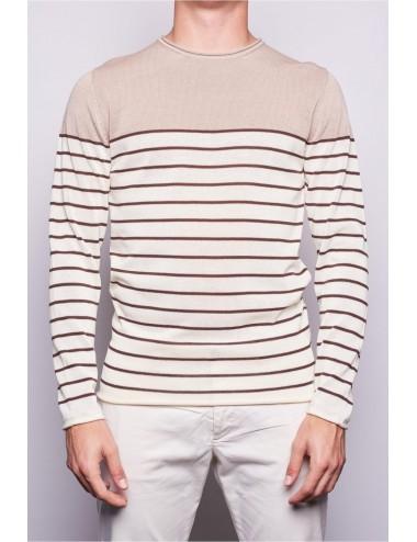 0405 100 MAGLIA uomo DANIELE FIESOLI man maglietta cotone shirt riga righe new