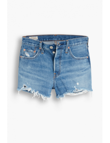 56327 0081 SHORT vita alta donna LEVIS pantaloncini corti bermuda 501 Original