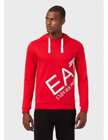 6HPM26 FELPA con cappuccio EA7 Emporio Armani uomo maglia cotone felpe rosso