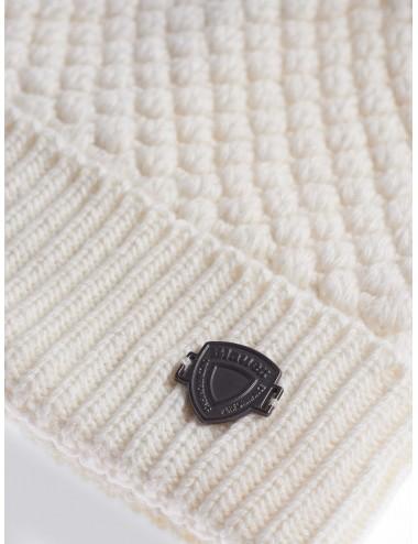 20WBLDA05422 102 CAPPELLO Blauer donna con pon pon pelliccia berretto cuffia cap
