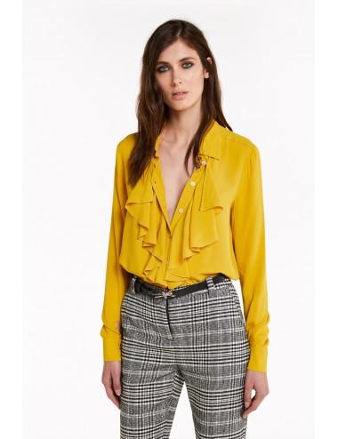 2C1240 A811 Camicia jabot Patrizia Pepe donna shirt blusa maglia woman
