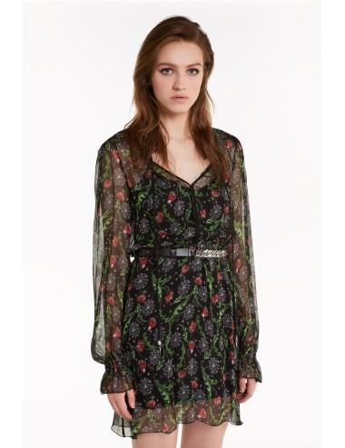 8A0774 Abito corto donna Patrizia Pepe vestito dress stampa floreale woman