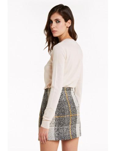 8M1084 Maglia con rivetti PATRIZIA PEPE donna jnit shirt maglietta maglioncino