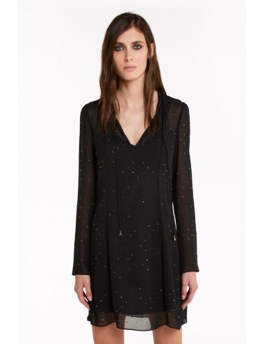 2A2169 ABITO CON STRASS PATRIZIA PEPE DONNA VESTITO DRESS vestitino donna nero