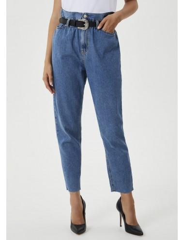 UF0103 PANTALONE Jeans mom fit con cintura LIU JO PANTALONI PANTS DONNA