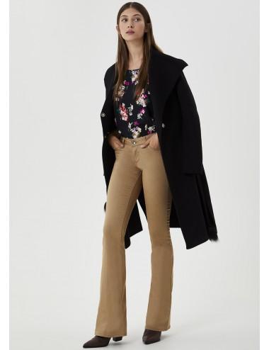 WF0271 BLUSA KARAKOVA LIU JO camicia fiori con plisse shirt top donna woman
