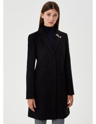 WF0422 CAPPOTTO donna LIU JO con spilla cappottino in panno giacca trench