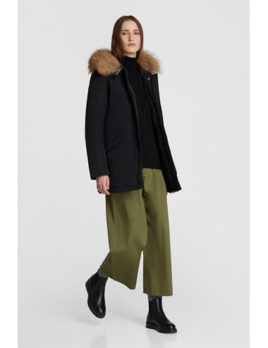 LUXURY NERO 100 WOOLRICH donna Arctic Parka luxury pelliccia racoon
