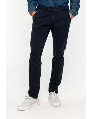 NEW ROLF BLU ROY ROGER'S PANTALONE PXT READ IN GABARDINA pantaloni slim fit