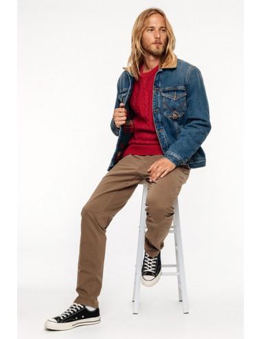 NEW ROLF BEIGE ROY ROGER'S PANTALONE PXT READ IN GABARDINA pantaloni slim fit