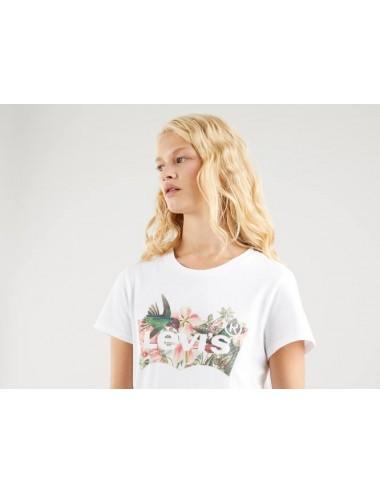 17369 1265 T SHIRT DONNA LEVIS THE PERFECT TEE MAGLIA MAGLIETTA LOGO fiori woman