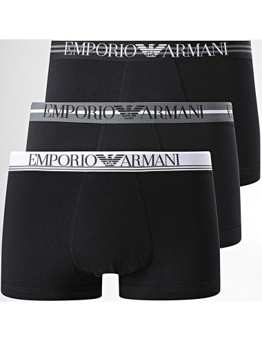 111357 1P723 21320 pack 3 parigamba EMPORIO ARMANI uomo boxer slip mutande uomo