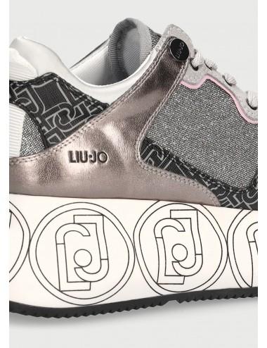 BA1085 TX187 ARGENTO Sneakers maxi platform LIU JO donna scarpe scarpa scarpetta
