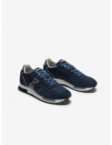 SNEAKERS UOMO BLAUER QUEENS NAVY BLU SCARPA SCARPETTA SCARPE SHOES MAN