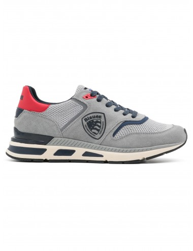 HILO 01 GREY RED NAVY SCARPA BLAUER UOMO SNEAKERS SCARPETTA SCARPE SHOES MAN