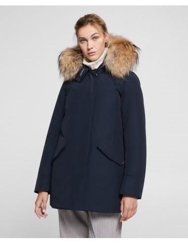 W'S ARCTIC PARKA FR Woolrich donna WWCPS2762 UT0001 DARK NAVY blu 100% ORIGINALE