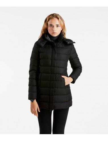 Refrigiwear donna  GRACE JACKET giubbino giubbotto con cappuccio piumino nero